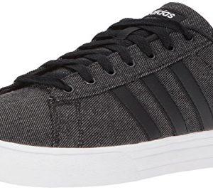adidas Mens Daily 2.0 Sneaker, Black/Black/White, 10 M US