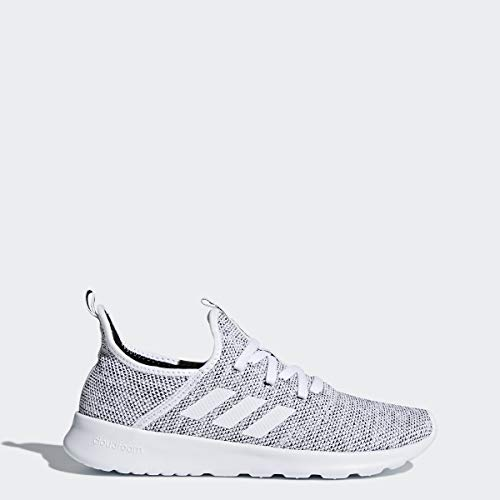 adidas Performance Womens Cloudfoam Pure Running Shoe, White/White/Black, 7.5 M US